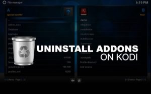 Uninstalling Removing Kodi Addons